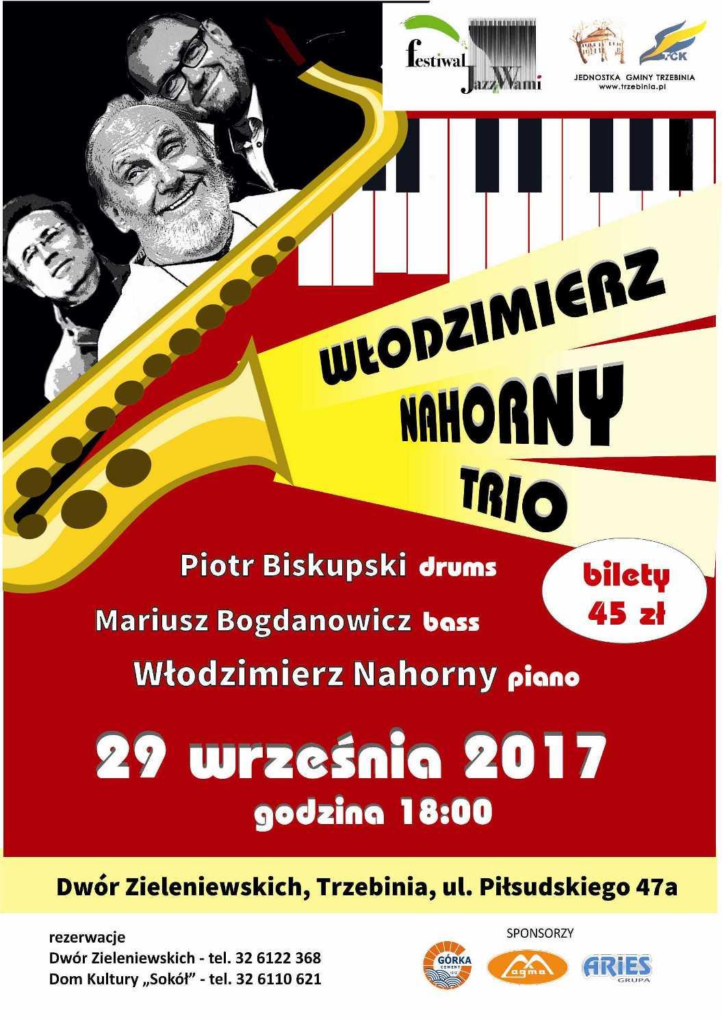 Włodzimierz Nahorny Trio w Dworze Zieleniewskich