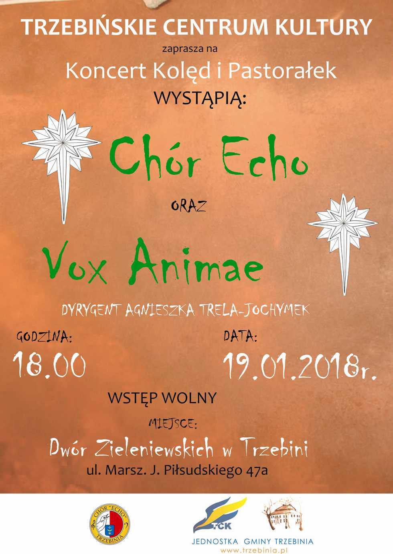 Koncert Kolęd i Pastorałek. Chór echo i goście 19012018