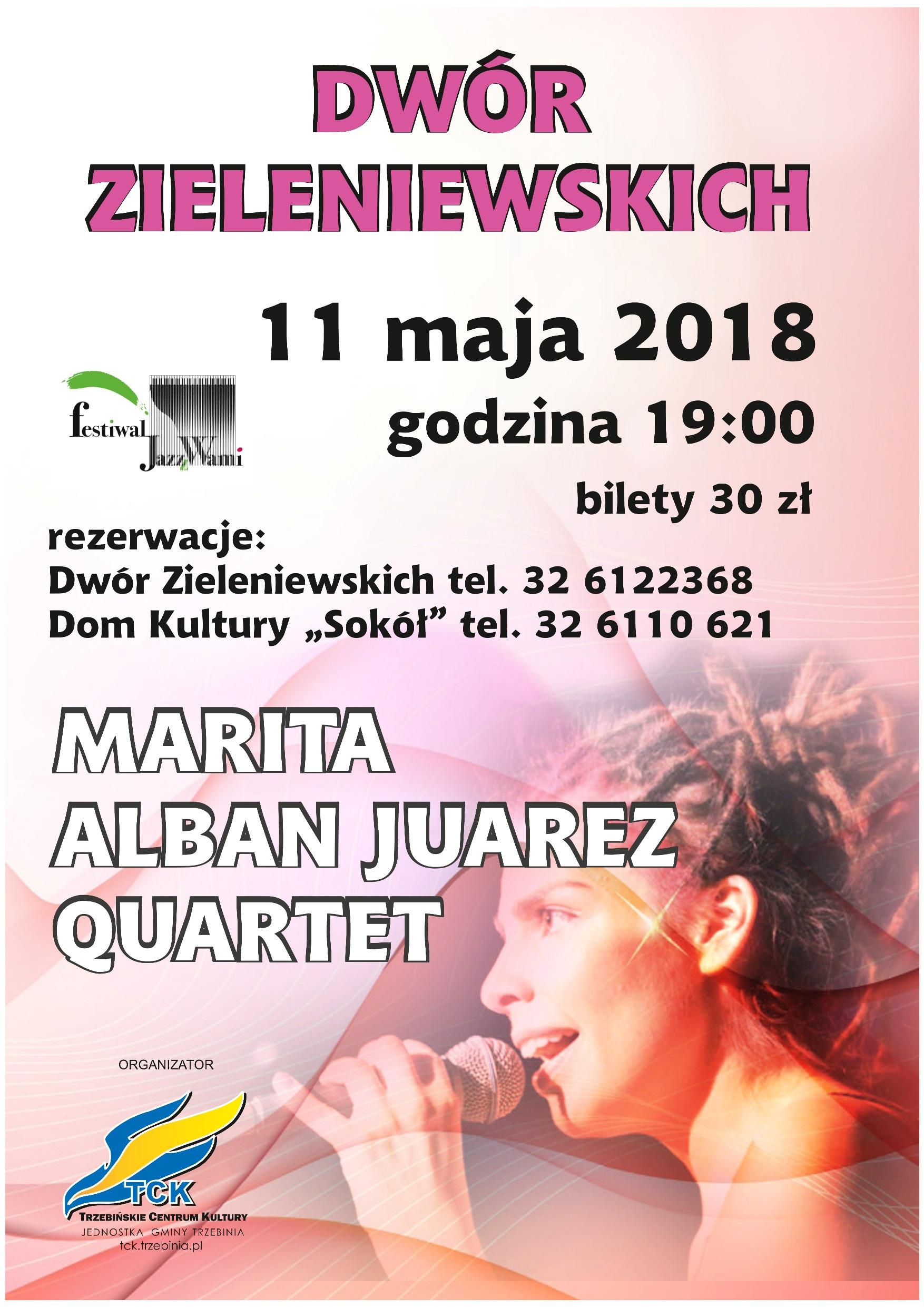 Marita Alban Juarez Quartet - koncert jazzowy