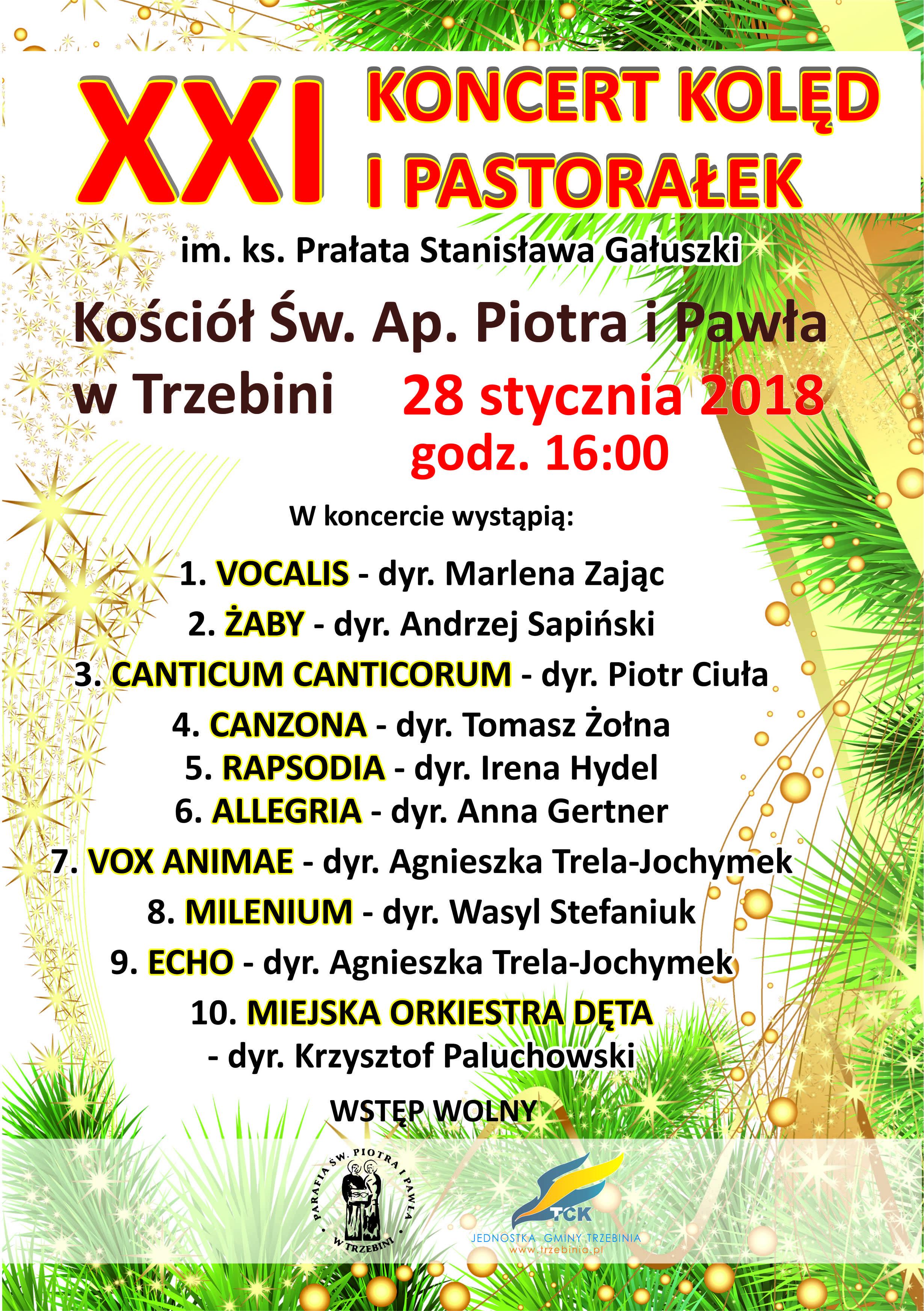 powiatowy koncert chórów 28 01 2018