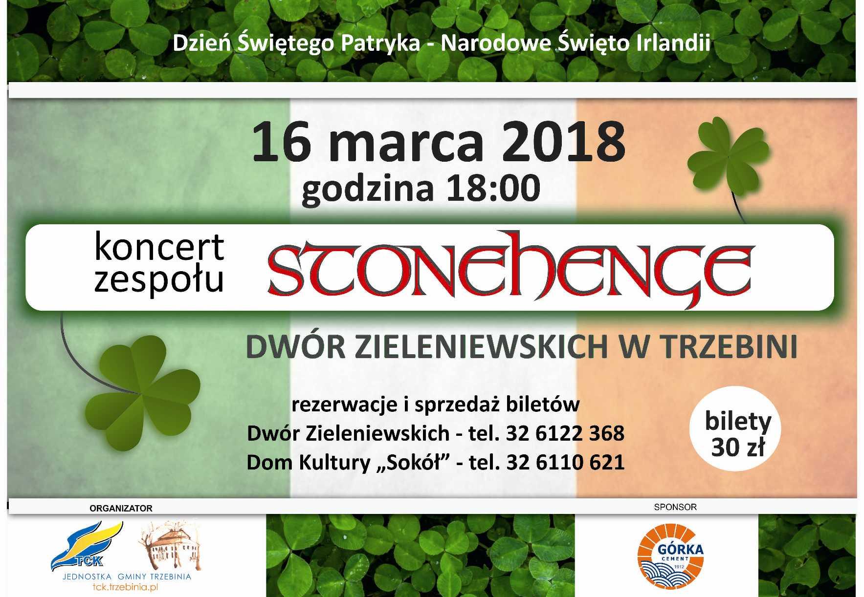 Dzień Św. Patryka - koncert zespołu Stonehenge