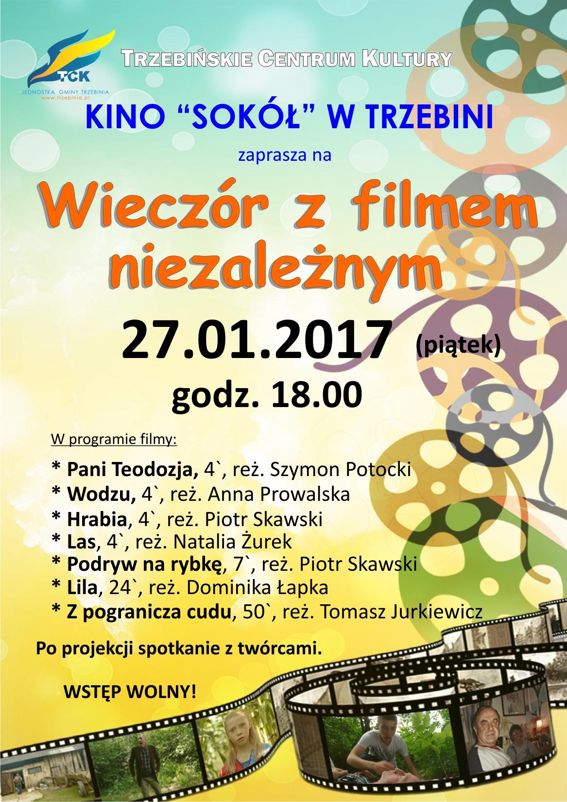 """Wieczór z filmem niezależnym - w kinie """"Sokół"""""""