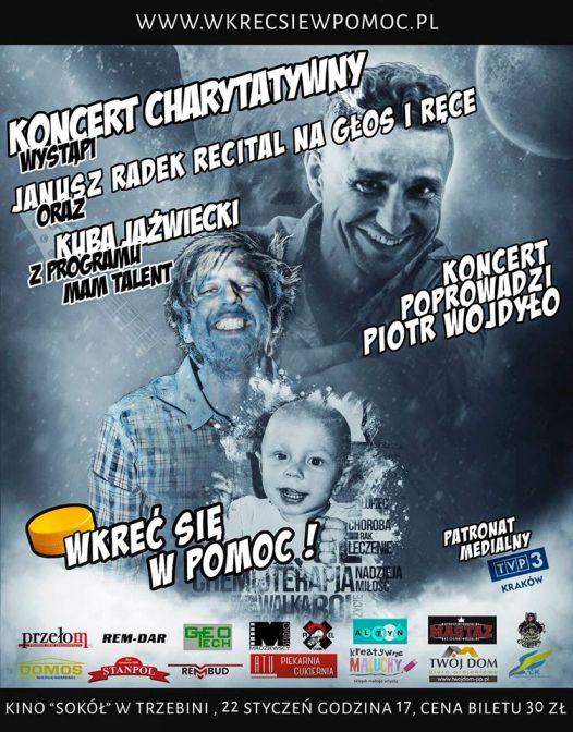 """Janusz Radek z koncertem charytatywnym w trzebińskim """"Sokole"""""""